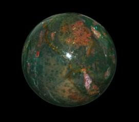 Satyamani Bloodstone Gemstone Sphere-Ball