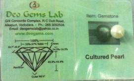 4.64 Ct. Satyamani Certified Cultured Pearl (Moti) Gemstone