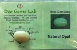 6.72 Ct. Satyamani Certified Natural Opal Gemstone