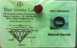 4.53 Ct.Satyamani Certified Natural Garnet Gemstone