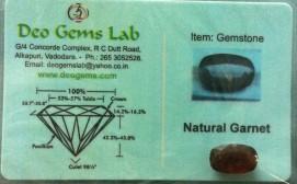 6.56 Ct. Satyamani Certified Natural Garnet Gemstone