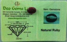 4.21 Ct. Satyamani Certified Natural Ruby(Manik) Gemstone