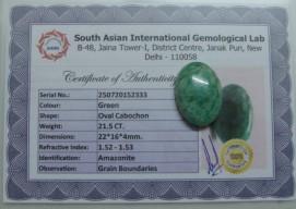 21.5 Cts Satyamani Natural Amazonite Certified Loose Gemstone For Reiki Chakra Healing