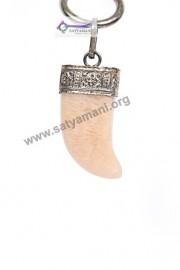 Satyamani Natural Peach Moonstone Nail Divinity Pendant