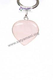 Satyamani Rose Quartz Heart Pendant for Love