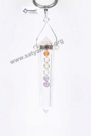 Satyamani Seven Chakra Gemstone Energy Pendant