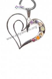 Satyamani Heart Seven Chakra Gemstone Energy Pendant