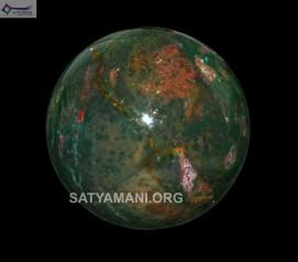 Satyamani Bloodstone Gemstone Sphere-Ball  For Reiki Chakra Vasstu Space Healing