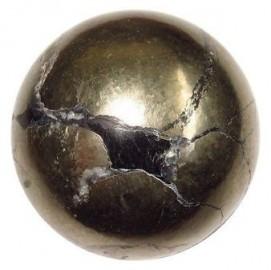 Satyamani Pyrite Gemstone Sphere Ball