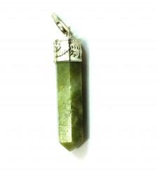 Satyamani Natural Vesuvanite Gemstone Crystal Point Pendant