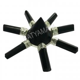 Satyamani Natural Black Tourmaline Point Energy Generator