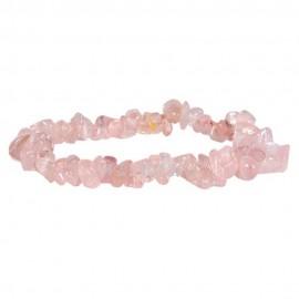 Satyamani Natural Rose Quartz Chip Bracelet