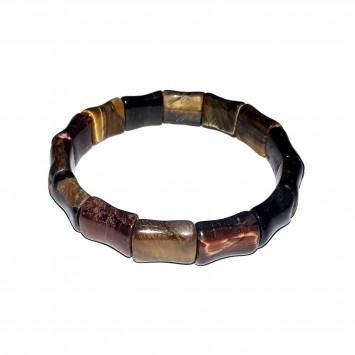 Satyamani Natural Tiger Eye Dumroo Bracelet