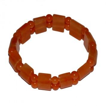 Satyamani Natural Red Aventurine Bracelet